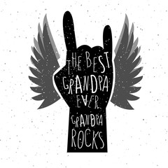 Hand drawn grandparents day poster.