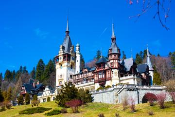 Photo sur Aluminium Chateau Beautiful former royal Peles castle, Sinaia, Romania