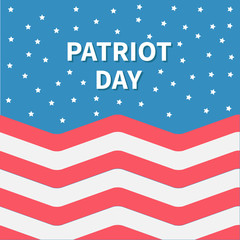 Star sky Red and white Strip ocean Patriot day Flat design