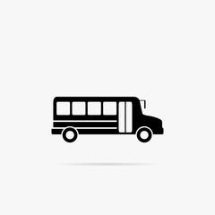 Simple icon school bus.
