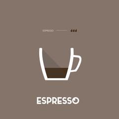 Espresso - coffee type – flat design