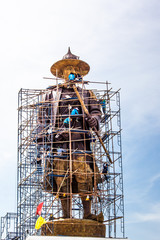 Monument King of Thailand is under construction .