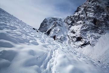 Sagarmatha National Park in winter, Nepal Himalaya