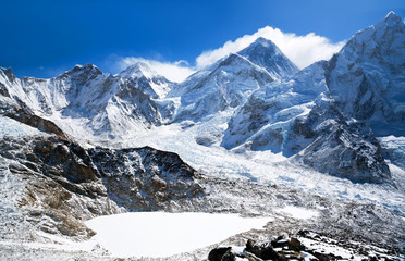 Mount Everest view in Sagarmatha National Park, Nepal Himalaya