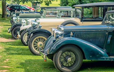 Classical vintage cars