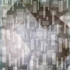 Gray background. Abstract silver and white triangles and rectangle design.