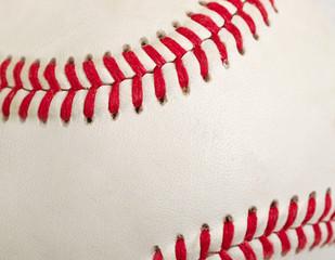 Used baseball in filled frame format