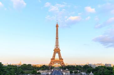 Eiffel Tower with blue sky, Paris