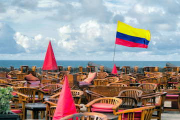 Open air cafe in Cartagena, Colombia