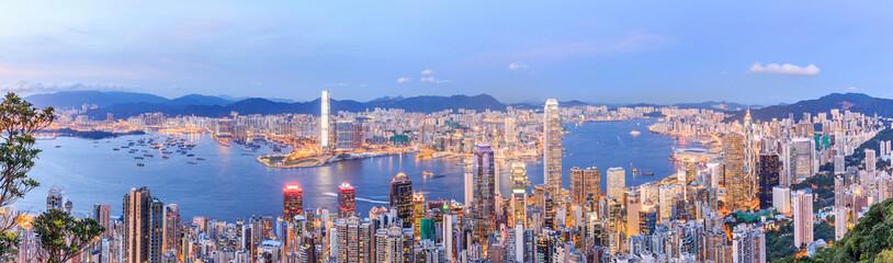 Hong Kong skyline at night Fotomurales