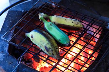 Grilled Bananas Thai Dessert.