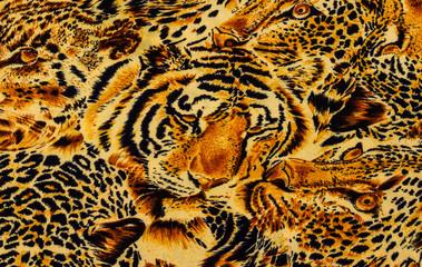 Tiger print fabric