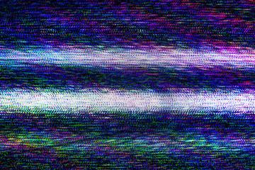 TV damage, television static noise