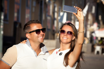 Capturing happy moments together.