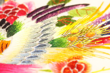 Silk art oriental.