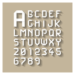 Origami alphabet letters and numbers