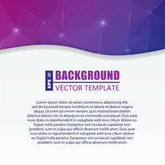 Abstract creative concept vector background for Web and Mobile