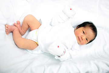 newborn asian baby girl young youth cute concept