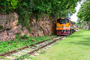 Death Railway, during the World War II at Kanchanaburi Thailand,