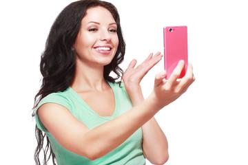 taking selfies