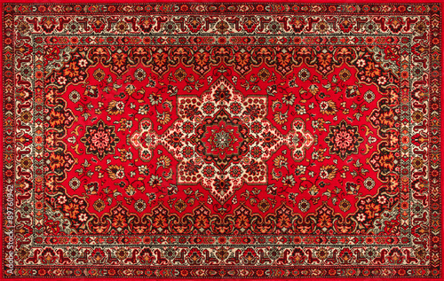 Quotold persian carpet with pattern top viewquot stock photo for Bathroom carpet top view