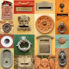 retro entrance door items , Italy