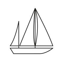 Vector Illustration of an Abstract Sailboat Icon
