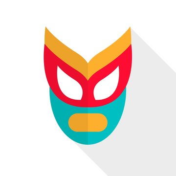 Vector Illustration of an Abstract Wrestling Mask