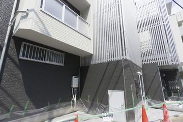 共同住宅 1Fのコンクリート工事 養生あり