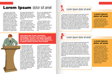 vector template booklet in the style of the business magazine