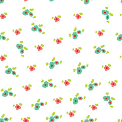 cute flowers. Seamless vector background.