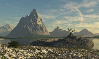 paisaje de otro planeta