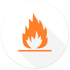 flame flat design modern icon