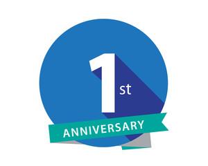 1 Anniversary Blue Circle Logo