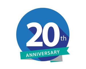 20 Anniversary Blue Circle Logo