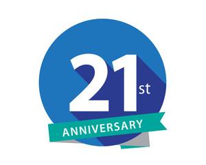 21 Anniversary Blue Circle Logo