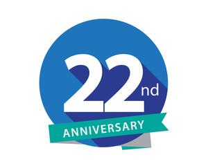 22 Anniversary Blue Circle Logo