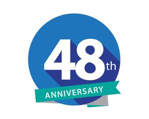48 Anniversary Blue Circle Logo