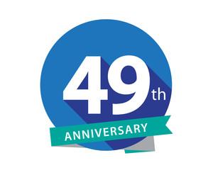 49 Anniversary Blue Circle Logo