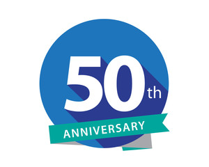 50 Anniversary Blue Circle Logo