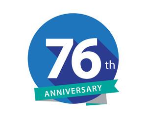 76 Anniversary Blue Circle Logo