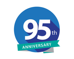 95 Anniversary Blue Circle Logo