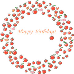 Birthday card with apples