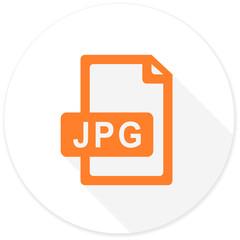 jpg file flat design modern icon
