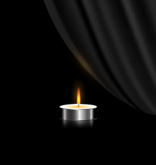 dark and small candle