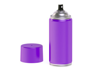 purple  spray paint can