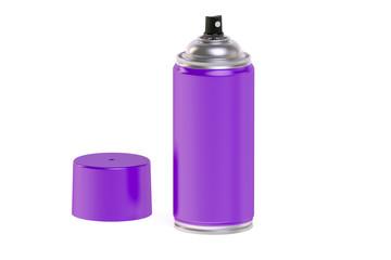 purple  spray paint can