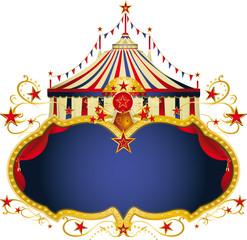 Magic circus blue frame