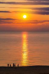 sunrise on the sea beach