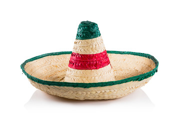 Mexican hat / sombrero isolated on white